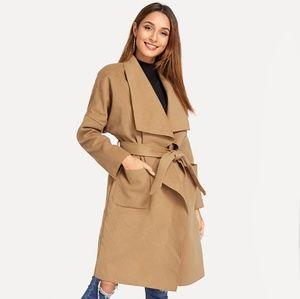 Jackets & Blazers - Camel waterfall coat size Small